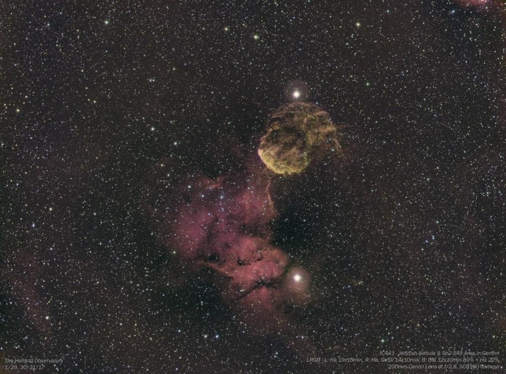 IC443 - Jellyfish Nebula & Sh2-249 Area in Gemini