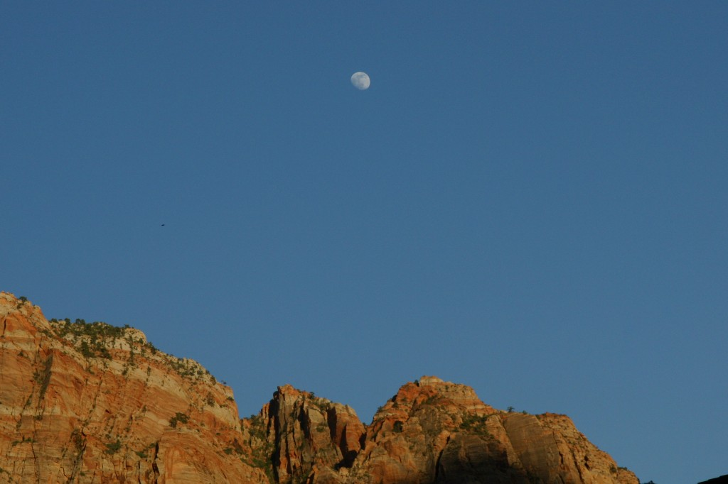 The Moon Over Zion National Park, 6/9/14