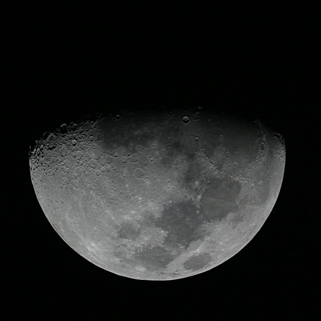 Gibbous Moon - 200mm f/5 Newtonian, Canon Digital Rebel, Single Shot
