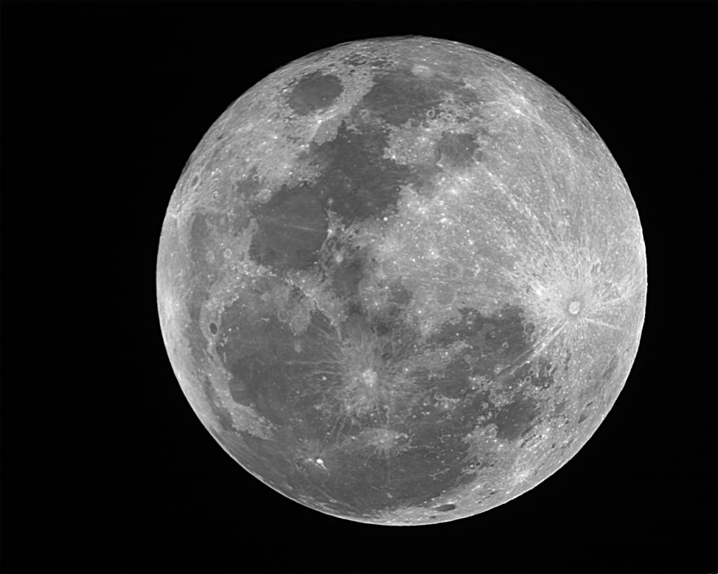 Full Moon - SC2 Camera, 100 Frames Combined