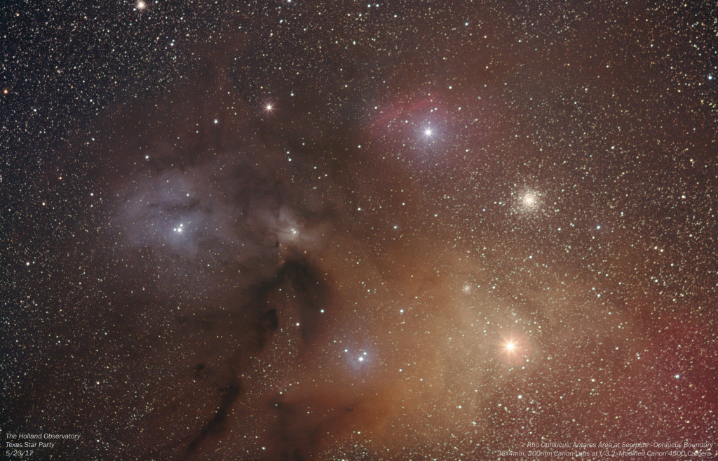 Rho Ophiucus, Antares Area at Scorpius - Ophiucus Boundary