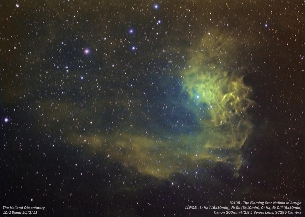 IC405 - Flaming Star Nebula in Auriga
