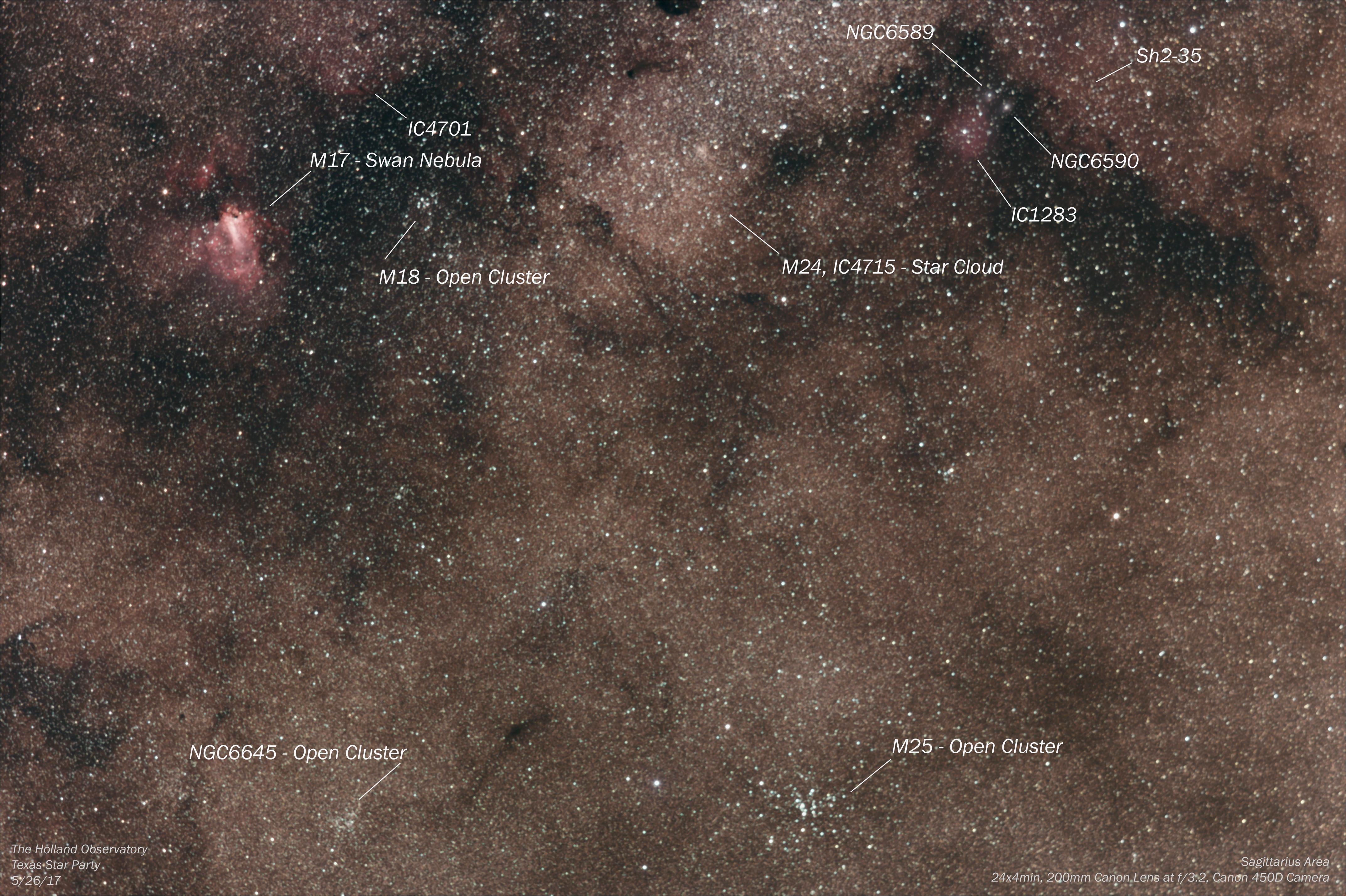 Sagittarius Area | The Holland Observatory