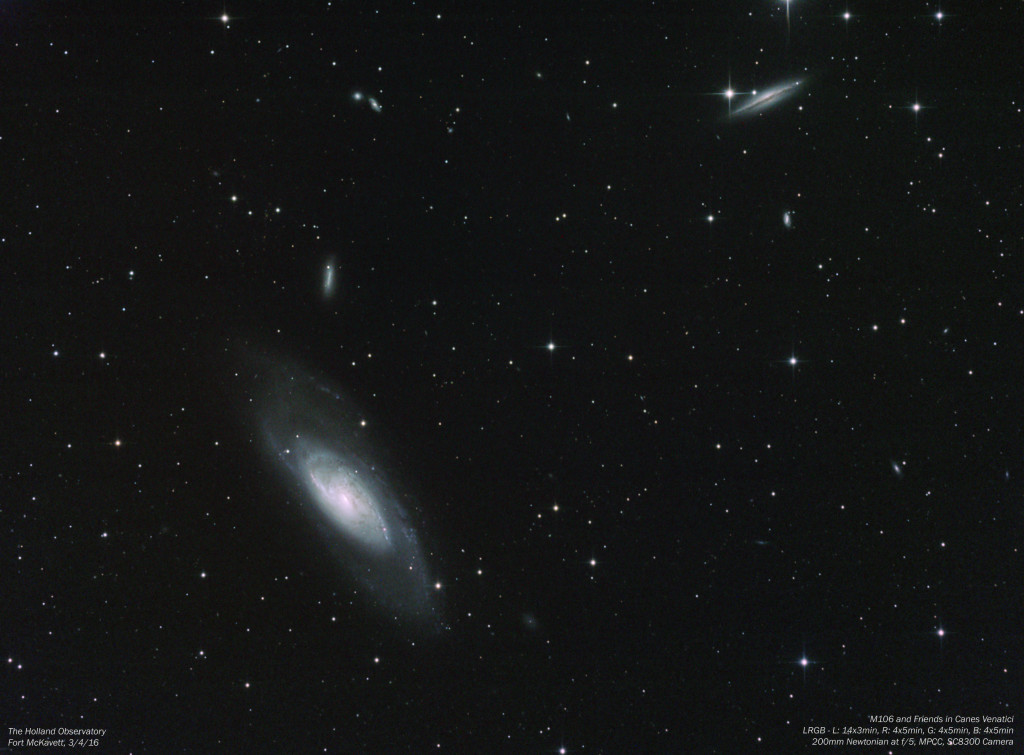 M106 and Friends in Canes Venatici