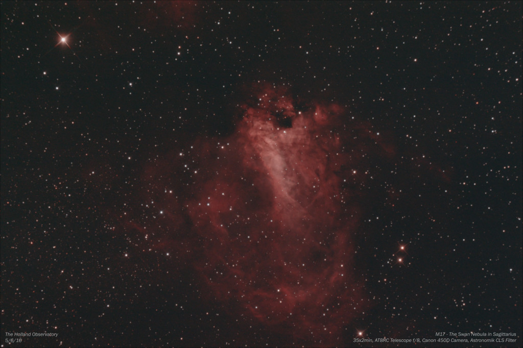 M17 - Swan Nebula in Sagittarius