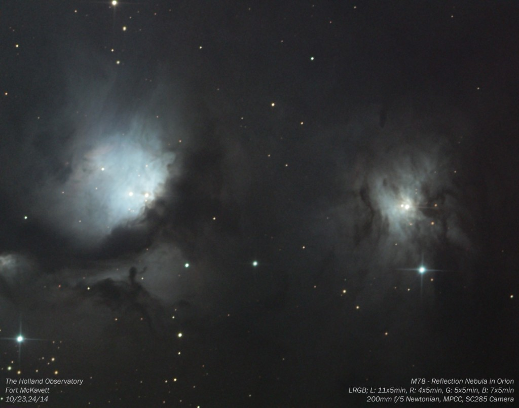 M78 - Reflection Nebula in Orion