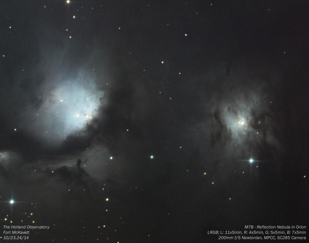 M78 - Reflection Nebula in Orion