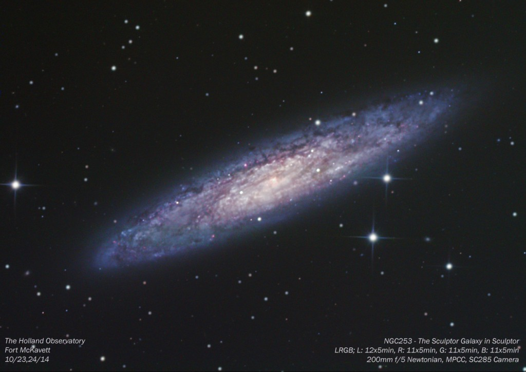 NGC253 - Sculptor Galaxy in Sculptor