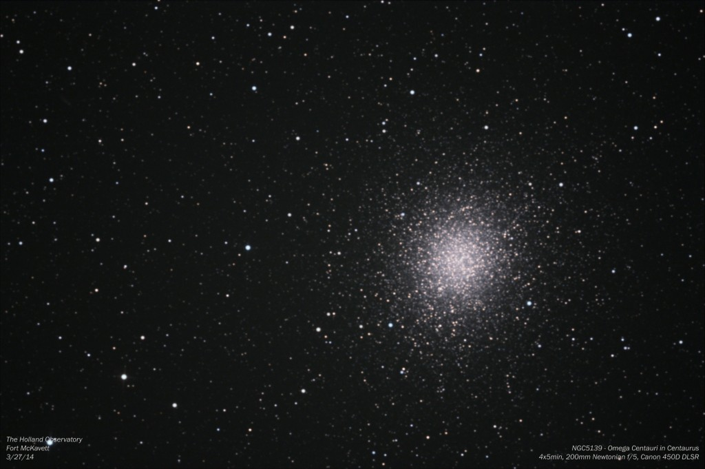 NGC5139 - Omega Centauri in Centaurus