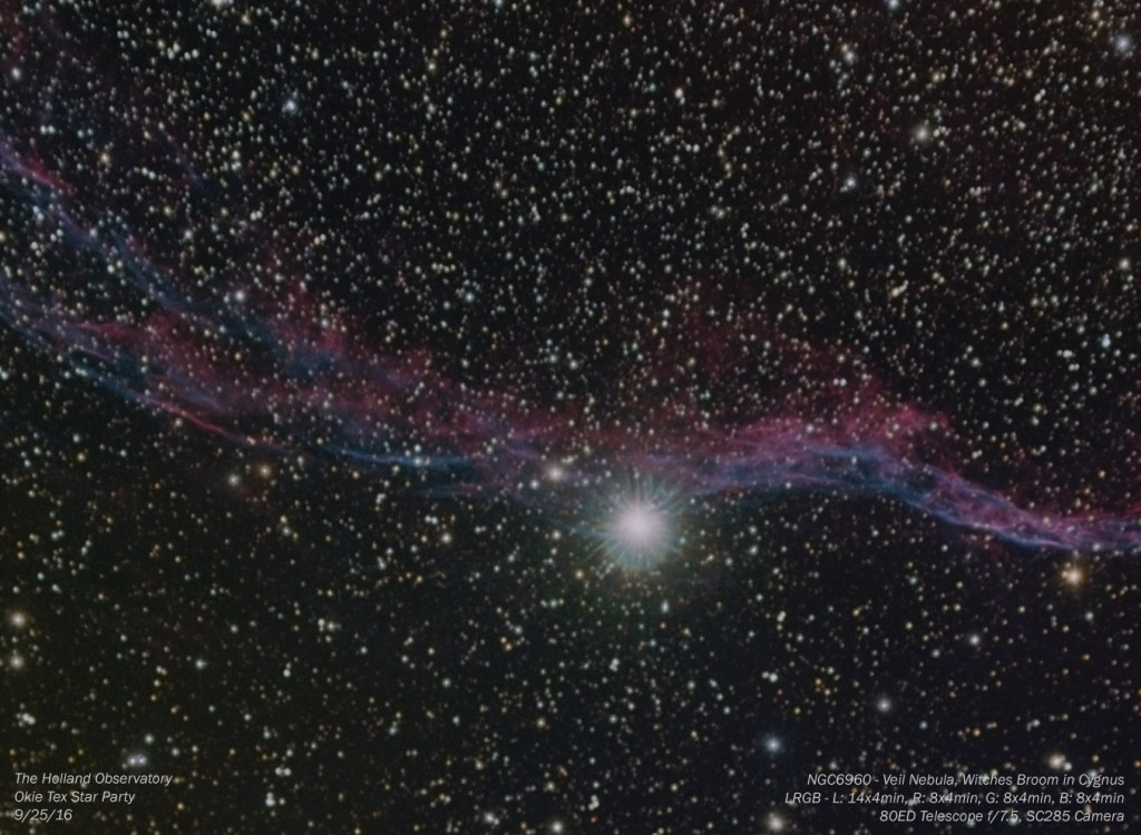 NGC6960 – Veil Nebula / Witches Broom Nebula in Cygnus