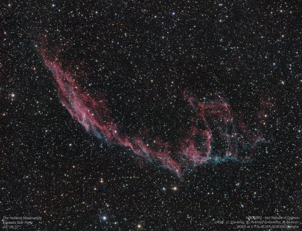 NGC6992 - Veil Nebula in Cygnus