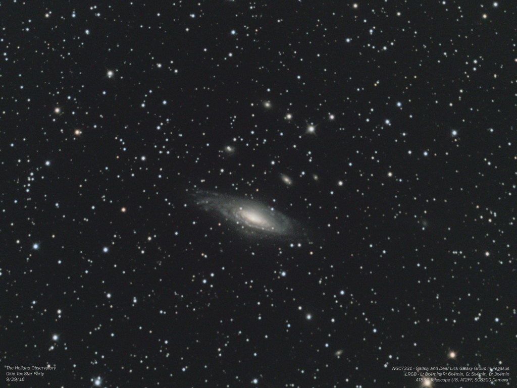NGC7331 & Deer Lick Galaxy Group in Pegasus
