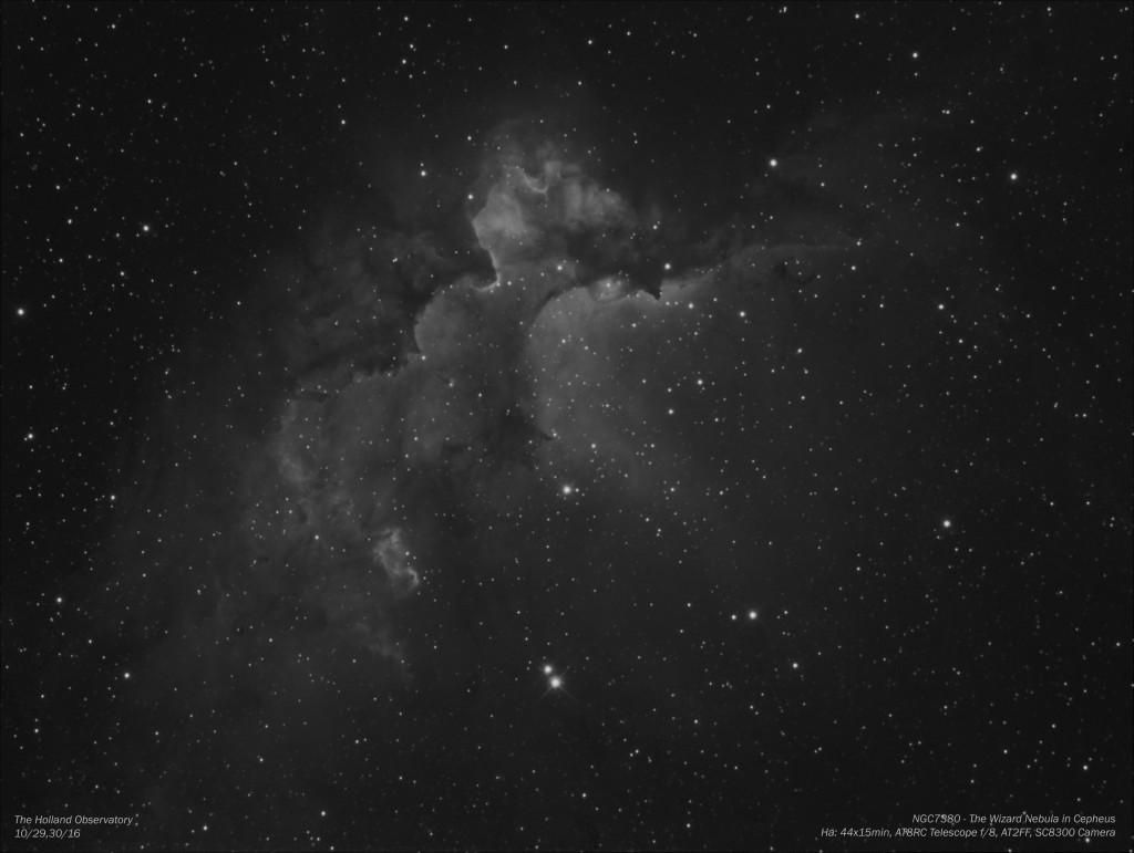 NGC7380 - Wizard Nebula in Cepheus