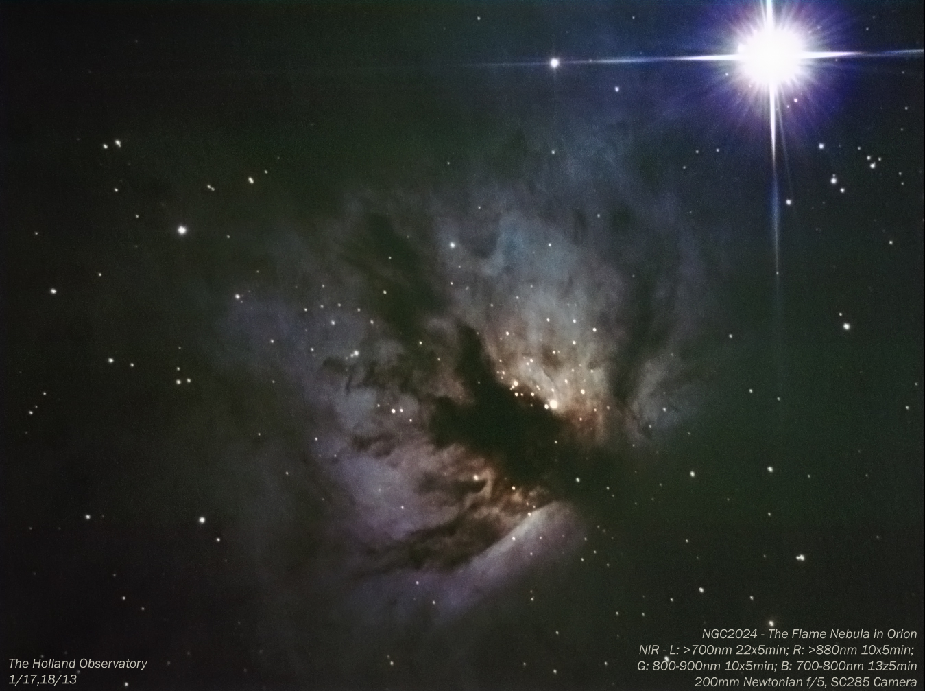 Emission Nebulae – Near Infrared | The Holland Observatory